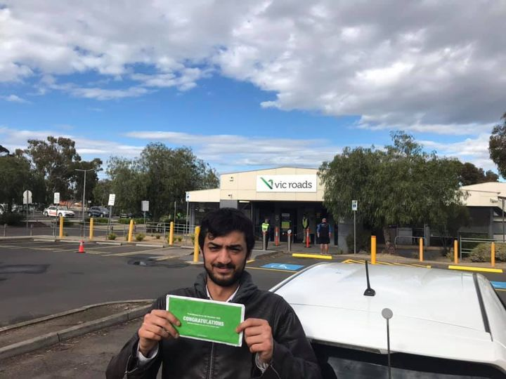 Student with license